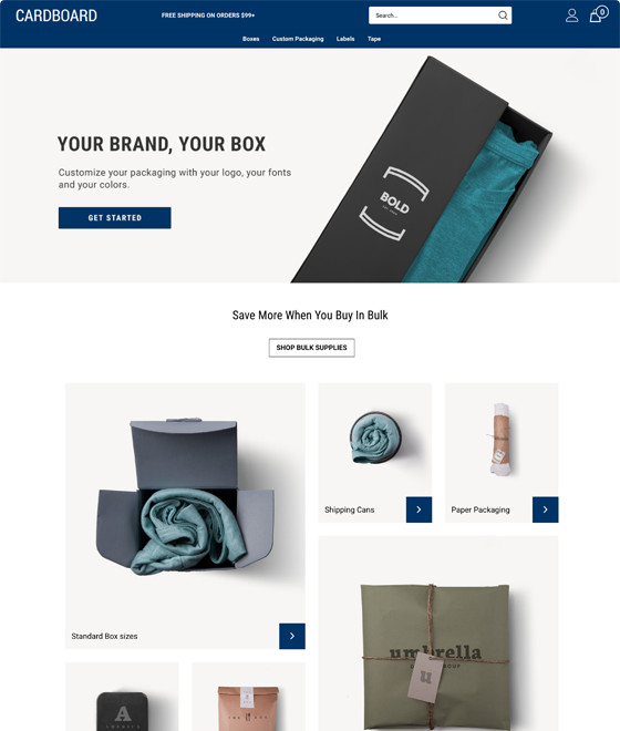 Cardboard Theme | Responsive Ecommerce Template | Volusion